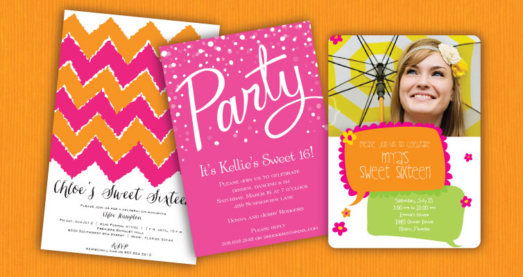 Teen & Sweet 16 Invitations