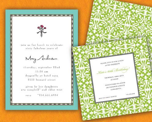 60th Birthday Invitations