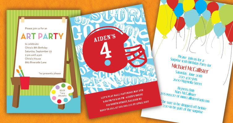 Kids Birthday Invitations