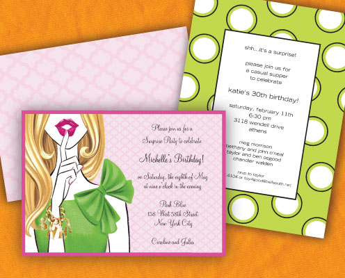 Surprise Birthday Invitations