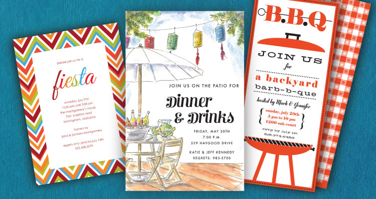 Dinner & Cocktail  Party Invitations